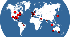 World map showing where SapphireTrend is used