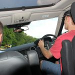 Greg driving a land rover at 45 degrees
